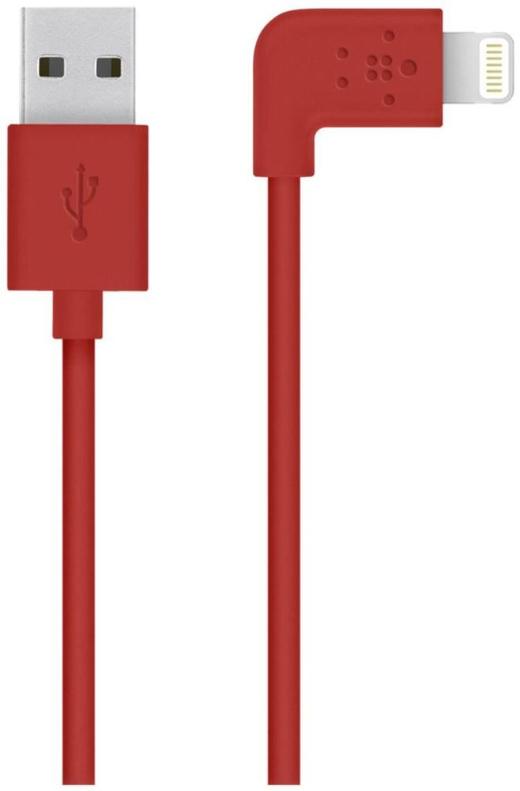 Belkin kabel nabíjecí a synchronizační MIXIT s Lightning konektorem 90°, 1.2m červený