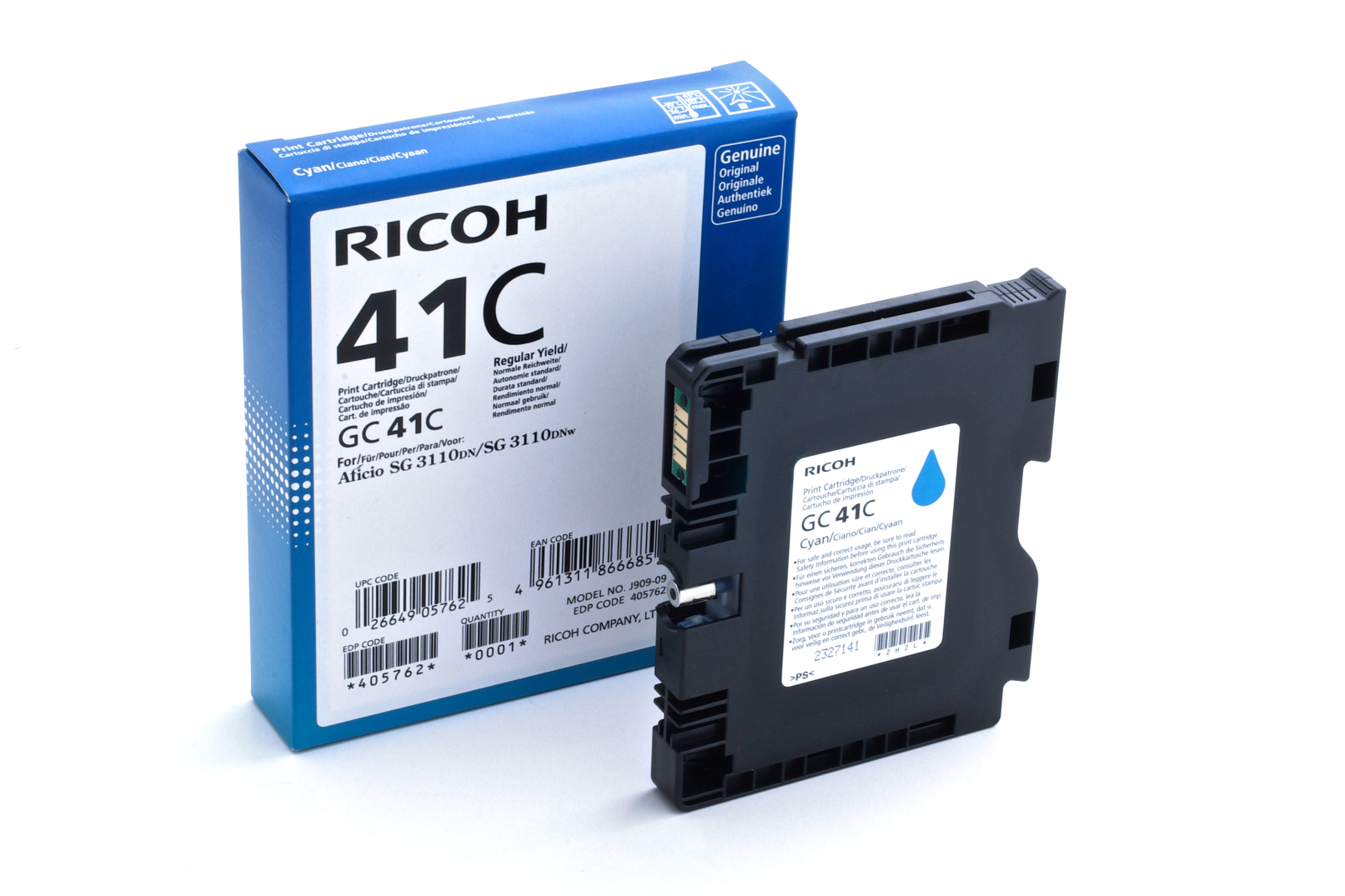 Ricoh - toner 405762 (SG 3110DN, 3110DNw, 3100SNw, 3110SFNw, 3120B SFNw, 7100DN) 2200 stran, azurový