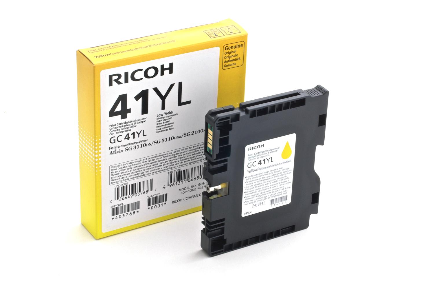 Ricoh - toner 405768 (SG 2100N, 3110DN, 3110DNw, 3100SNw, 3110SFNw, 3120B SFNw, 7100DN) 600 stran, žlutý