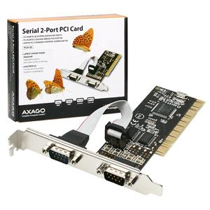 AXAGO PCI adapter 2x sériový port + LP