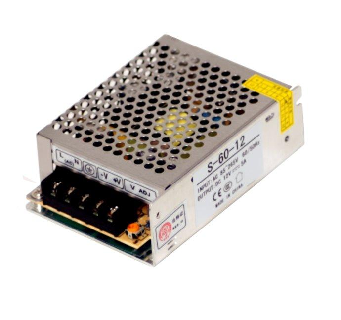 MikroTik OEM průmyslový impulsní zdroj 12V, 5A, 60