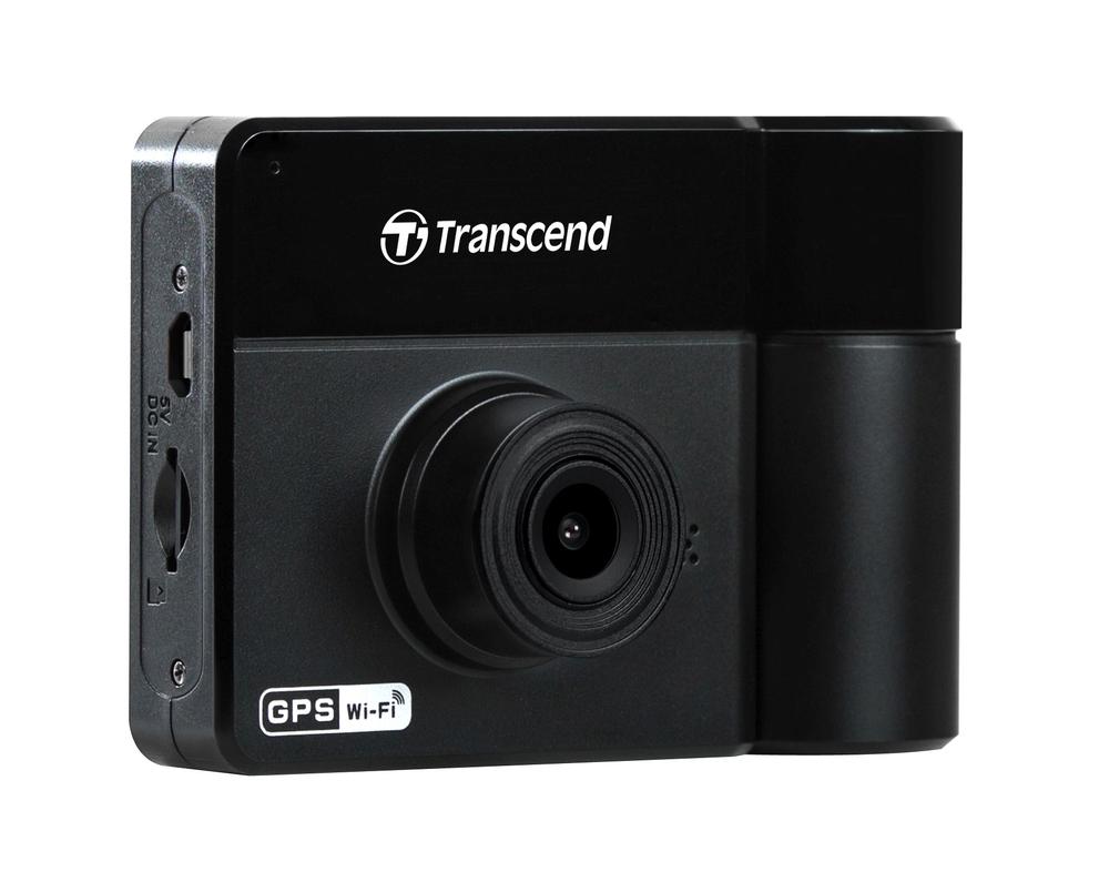 "Transcend DrivePro 550 duální autokamera, 2.4"" LCD, Full HD 1080p, 32GB microSDHC, G-Senzor, GPS, Wi-Fi"