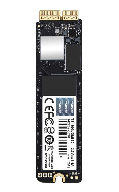 Transcend 480GB, Apple JetDrive 850 SSD, PCIe Gen3 x4 (3D TLC)
