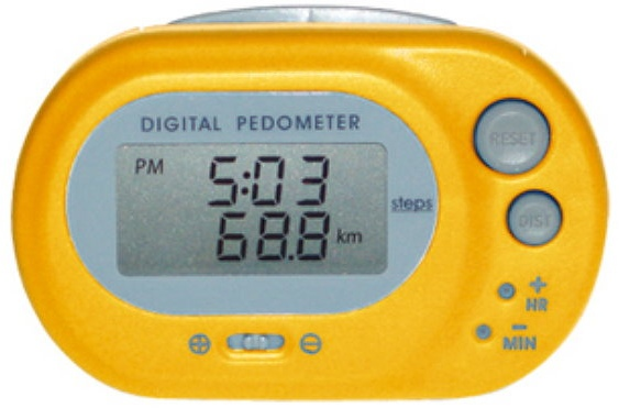 Oregon Scientific PE320Y, digitální krokoměr žlutý