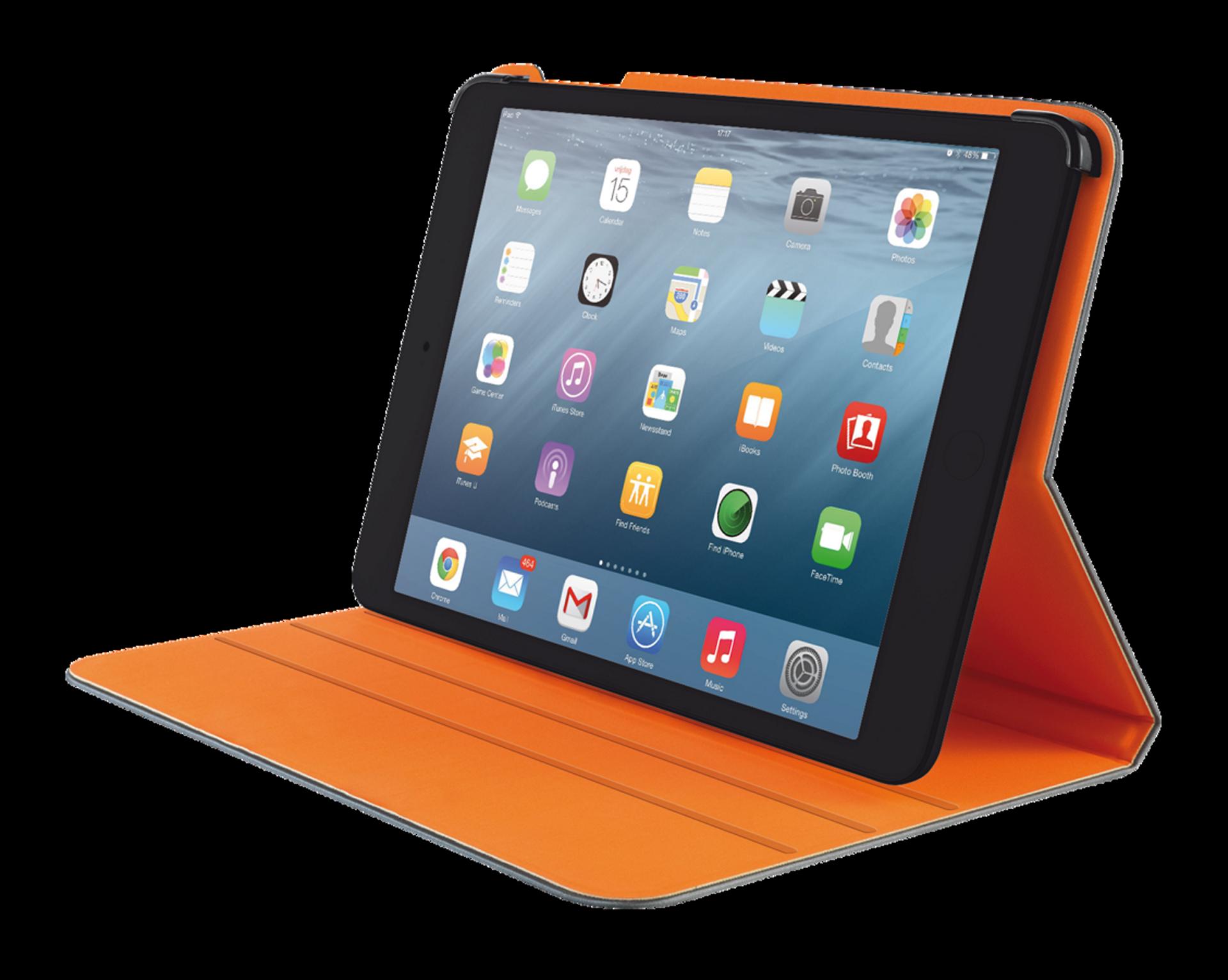 TRUST Pouzdro Aeroo Ultrathin Folio Stand for iPad Air 2 - šedá/oranžová