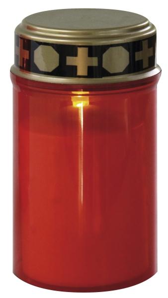 Emos LED hřbitovní svíčka se senzorem, 1x oranžová LED, 2x AA
