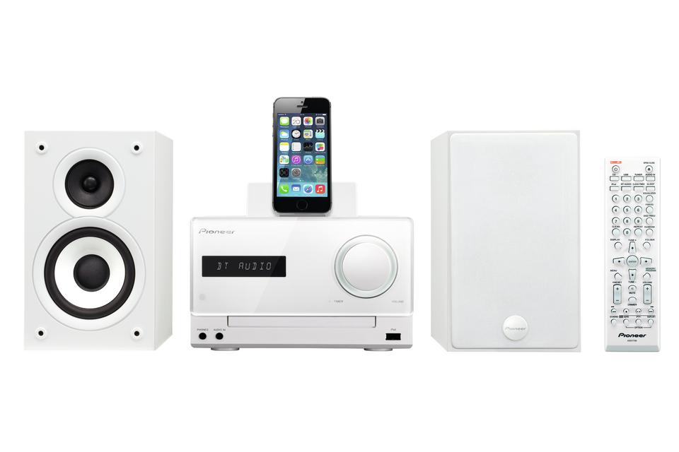 Pioneer systém s CD,USB,BT a dockem, bílý