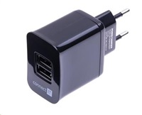 CONNECT IT nabíjecí adaptér 2x USB (3.1 A) černý