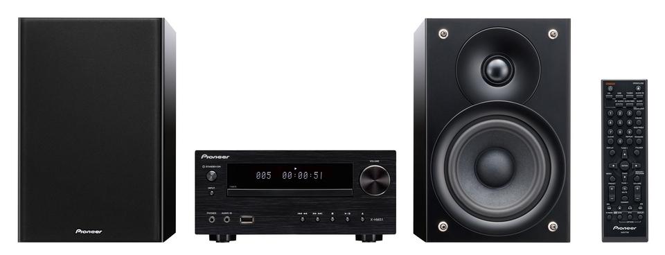 Pioneer HiFi systém s CD, USB, BT černý