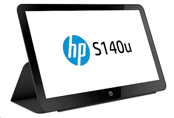 "HP LCD S140U Monitor 14"" (1600 x 900, 16:9, 200NITS, 400:1, 8ms, USB 3.0, 90°/50°)"