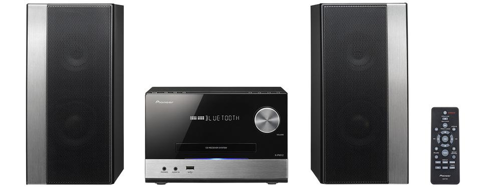 Pioneer výkonný systém s CD, USB, BT černostříbrný