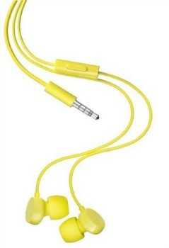 Nokia WH-208 stereo sluchátka do uší s mikrofonem, žlutá