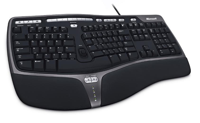 Microsoft klávesnice Natural Ergo Keybrd 4000 Win32 USB Czech CD Black