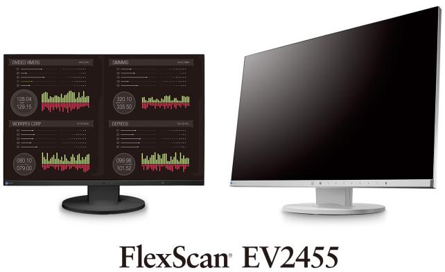 "EIZO 24"" EV2455-BK, 1920 x 1200, IPS,16:10, 5ms, 300 cd/m2, 1000:1, DP/HDMI/DVI/Dsub, ultraslim rám., černý"