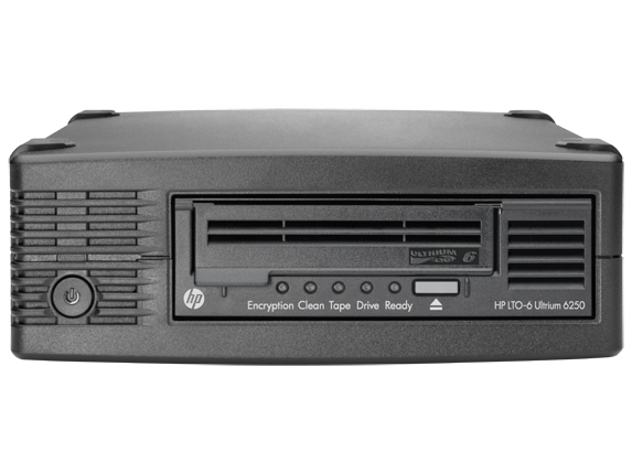 HP StoreEver Ultrium 6250 SAS External Tape Drive + 5x LTO-6 Data Tape Bundle TopValue