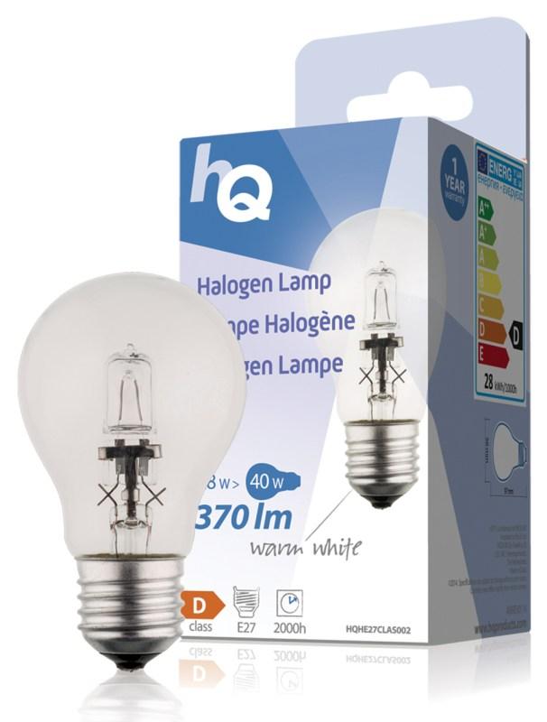 HQ halogenová žárovka Classic 28W, E27, 370 lm