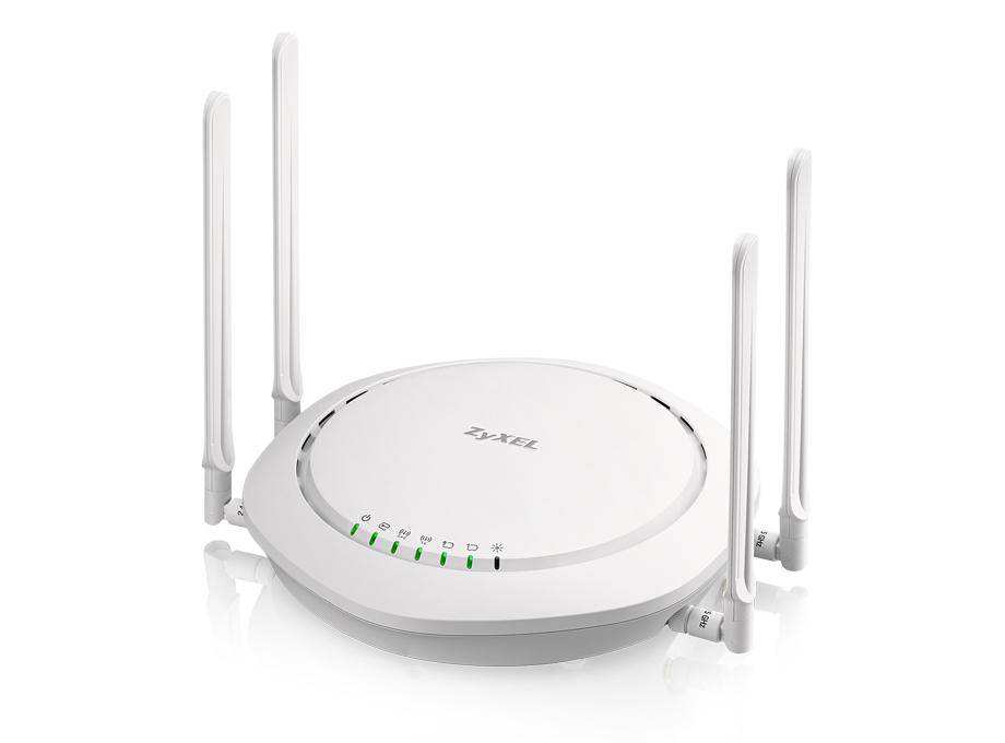 Zyxel WAC6502D-E, Standalone or Controller 802.11ac Wireless Access Point, Dual radio, 2x2 External antenna, 1GbE LAN