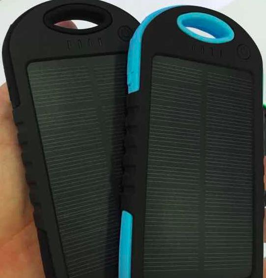 REMAX PowerBank 5000 mAh - solární, černá barva