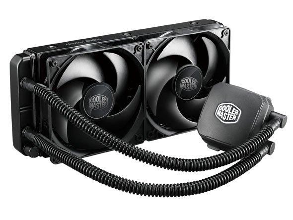 Coolermaster chladič Nepton 240M,vodník,skt.2011/1366/1155/1150/AM3+/AM3/AM2/FM1/FM2 silent, 2x120mm fan, 15dBA