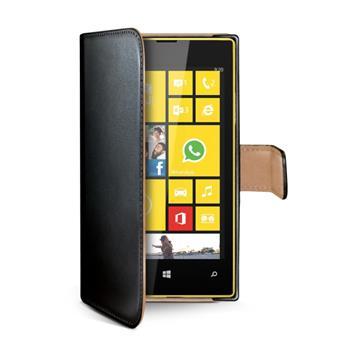 Pouzdro typu kniha Wallet Lumia 530, černé - SLEVA - poškozený prodejní obal