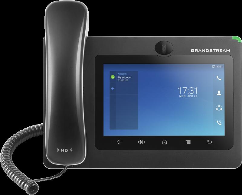 "Grandstream GXV3370 [IP video-telefon s Androidem 7.0, PoE+, WiFi, 7"" dotykové LCD, mini HDMI, SD card slot, USB]"