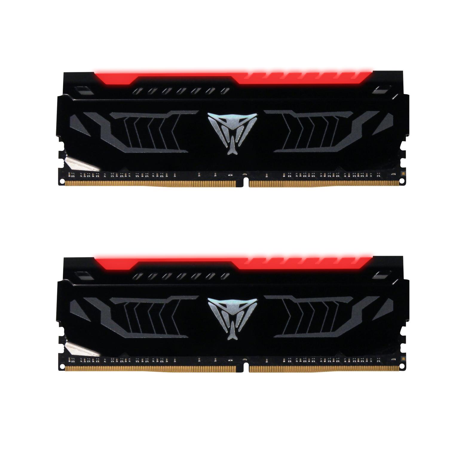 16GB DDR4-3600MHz Patriot Viper CL16, 2x8GB, bílé LED