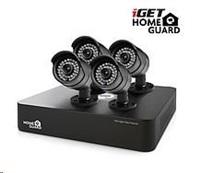 iGET HGDVK46704 - Kamerový CCTV set HD 720p, 4CH DVR rekordér + 4x HD 720p kamera,Win/Mac/Andr/iOS