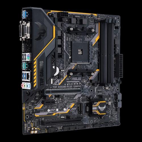 ASUS TUF B350M-PLUS GAMING Socket AM4 4DDR4 1 x PCIe 3.0/2.0 x16 + 1 x PCIe 2.0 x16 SATA 6Gb/s*4 +SATA 6Gb/s*2 microA