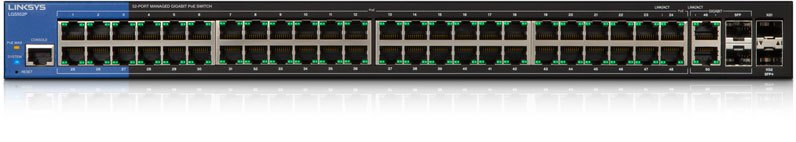 Linksys LGS552 Managed Gigabit PoE Switches 48-port, L2, 2x SPF 10G