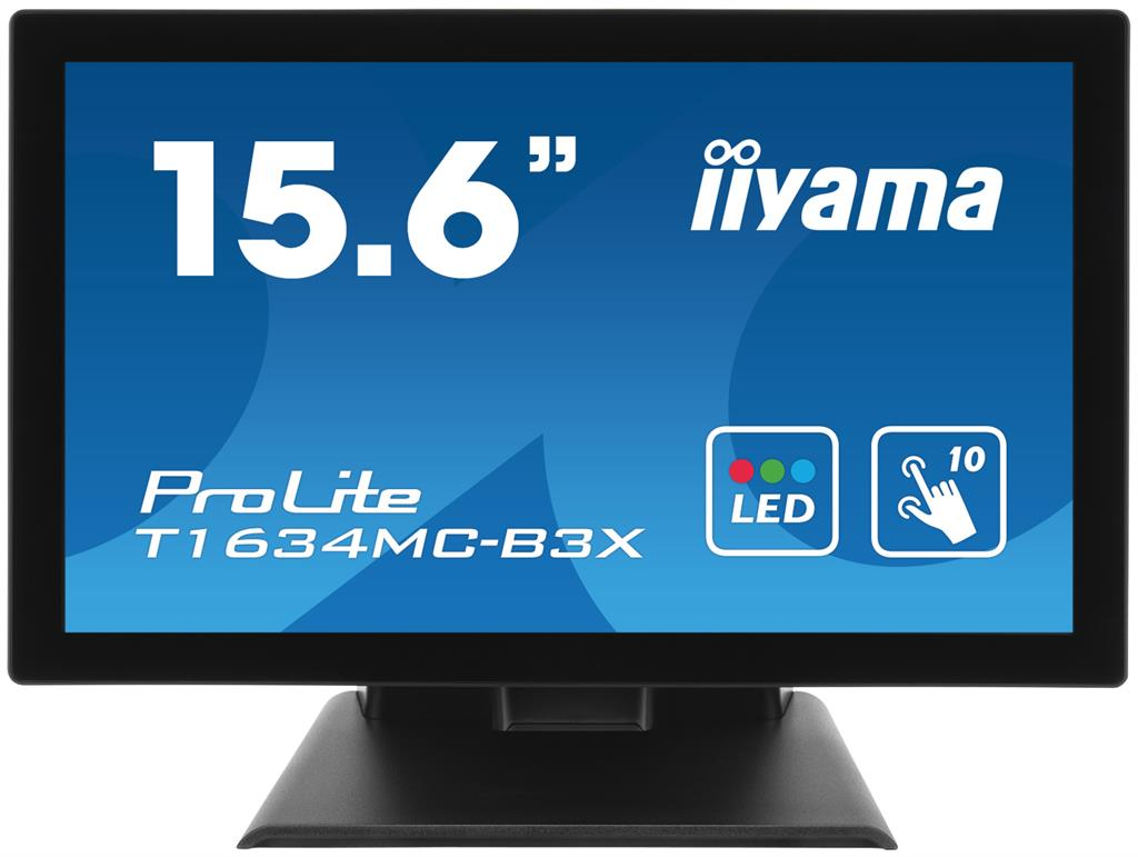 Touchscreen monitor Iiyama T1634MC-B3X 15.6'', 8ms, DVI, USB, black
