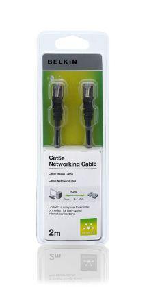 BELKIN Patch kabel Cat5e, RJ45, STP, černý, 2 m