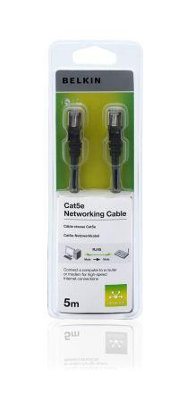 BELKIN Patch kabel Cat5e, RJ45, STP, černý, 5 m