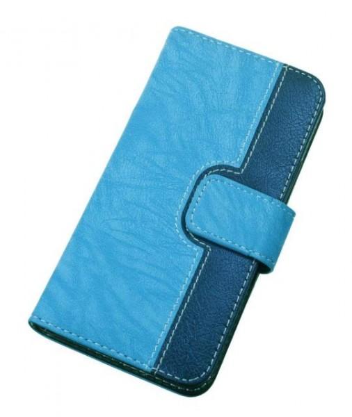 Pouzdro BOOK CHEERY vel. L (4,5-5 inch) modré