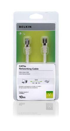 Belkin kabel CAT5e RJ45 datový bílý, 10m