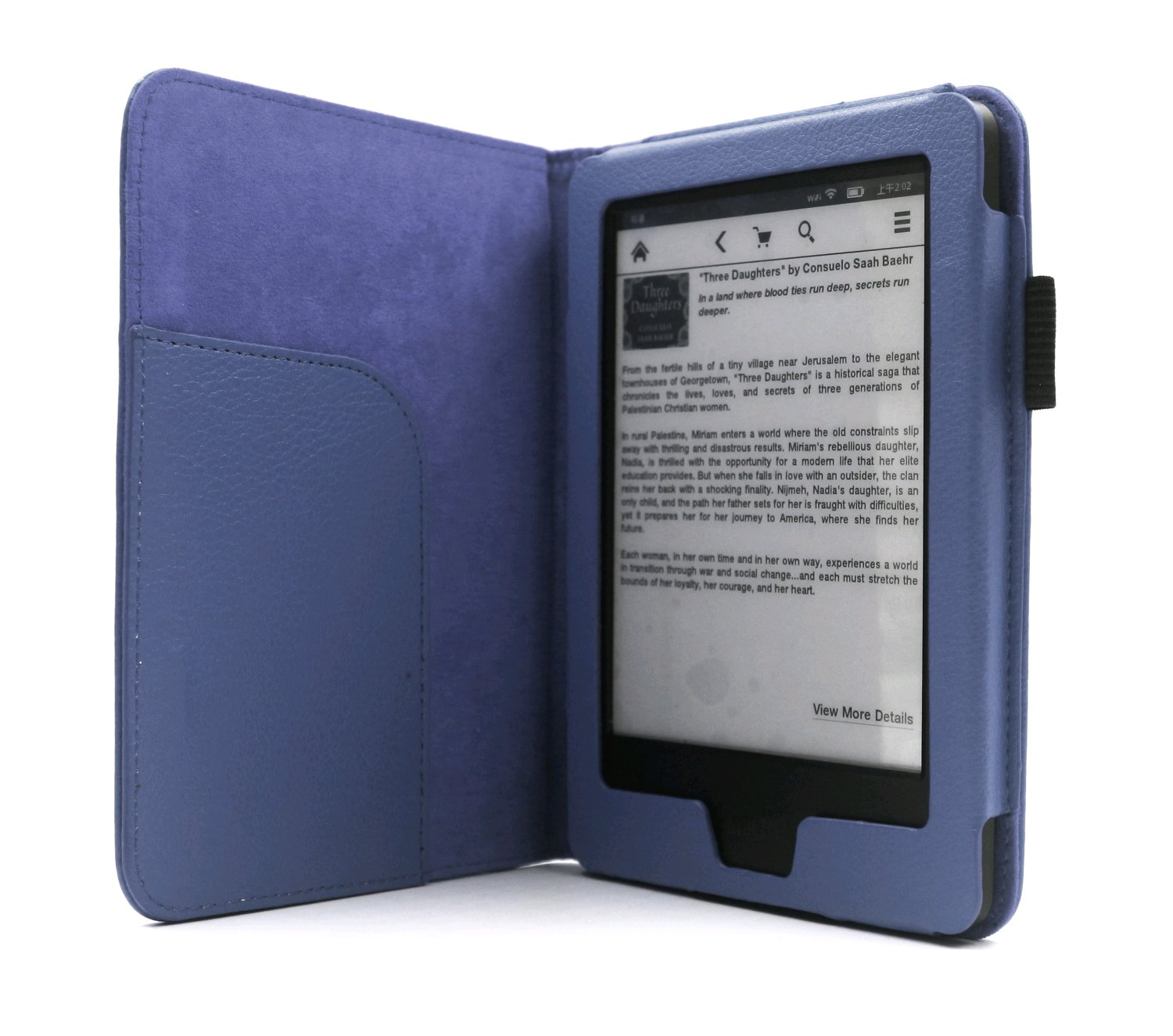 C-TECH pouzdro Kindle 6 Touch wake/sleep, modré