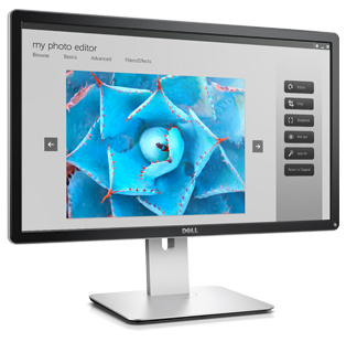 "Dell P2415Q Ultra HD 4k 24""/8ms/1000:1/(3840x2160 s 60 Hz/HDMI-MHL,DP,mDP,4xUSB3.0/IPS panel/cerny"