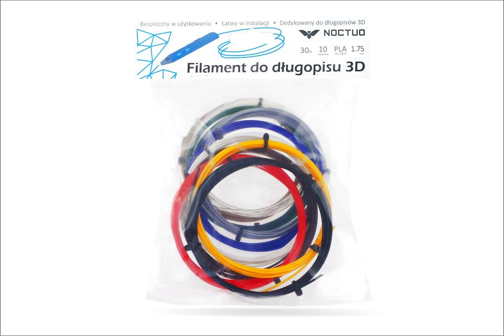 PowerNeed Sunen Filaments PLA to the 3D Printing pen - 10 colours x 3 m