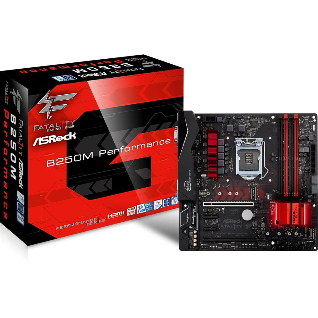 ASRock B250M Performance, INTEL B250 Series,LGA1151,4 DDR4, 2 x M.2 (for SSD)
