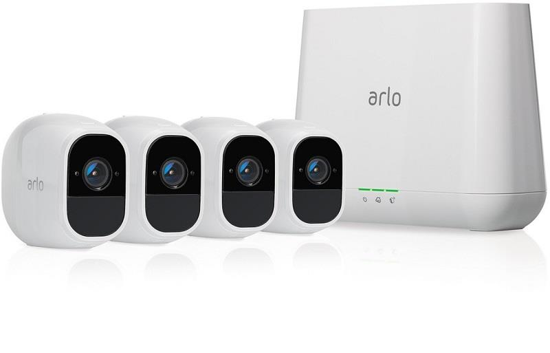 ARLO PRO 2 FHD (1080p) 4 x Camera Smart Security System Wire Free (VMS4430P)