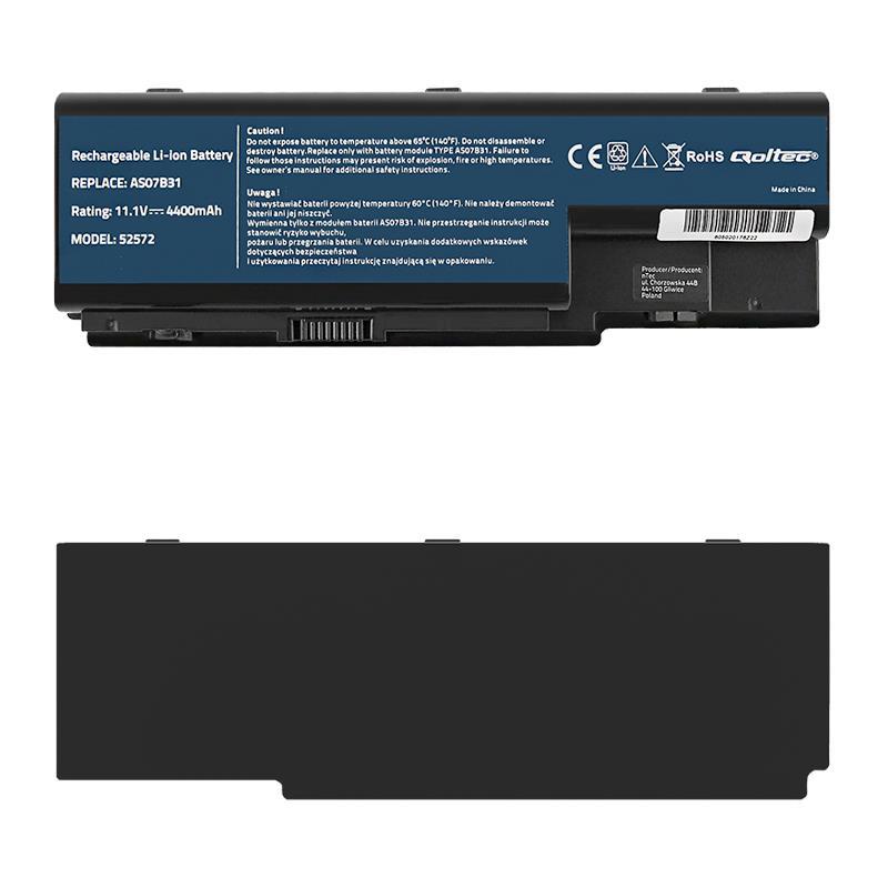 Qoltec Long Life baterie pro notebooky Acer Aspire 5520 | 10.8-11.1V | 4400mAh