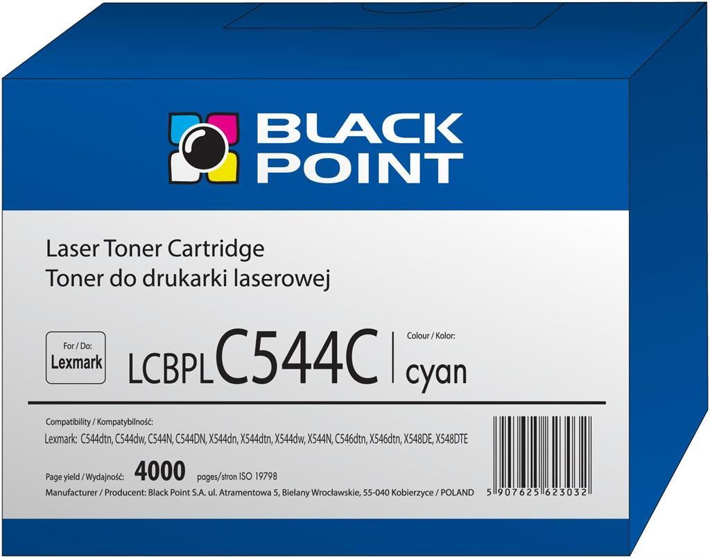 Toner Black Point LCBPLC544C | cyan | 4000 pp | Lexmark | C544X1CG