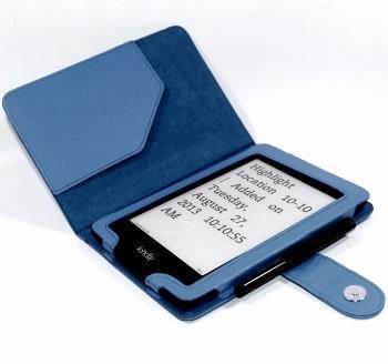 C-TECH PROTECT pouzdro pro Kindle PAPERWHITE s funkcí WAKE/SLEEP, modré