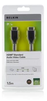 BELKIN HDMI - HDMI 1.4 AV kabel, 4K, 1.5 m
