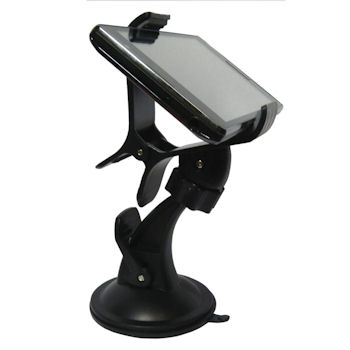 Qoltec Nastavitelný držák na sklo auta pro iPhone/Smartphone/GPS