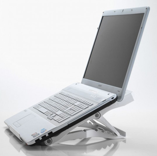 Portable notebook stand (white)