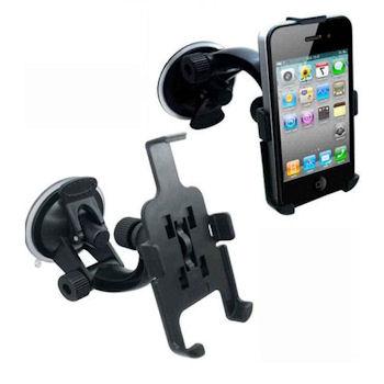 Qoltec Nastavitelný držák na sklo auta pro iPhone 4