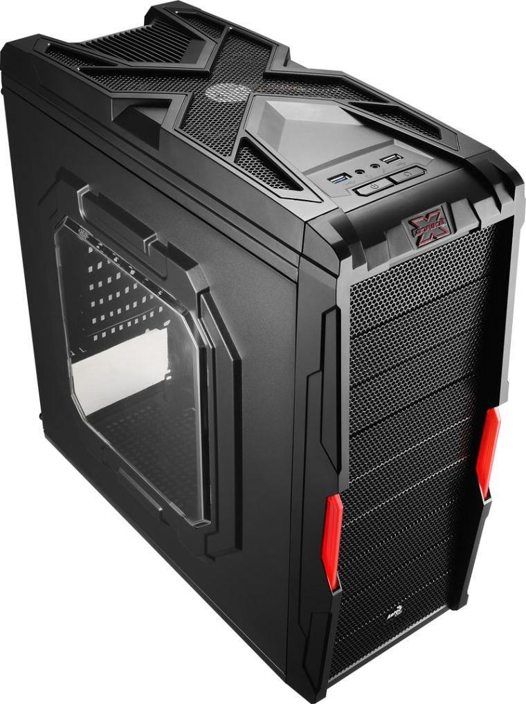 PC skříň Aerocool ATX STRIKE-X COUPE, USB 3.0, černá (bez zdroje)