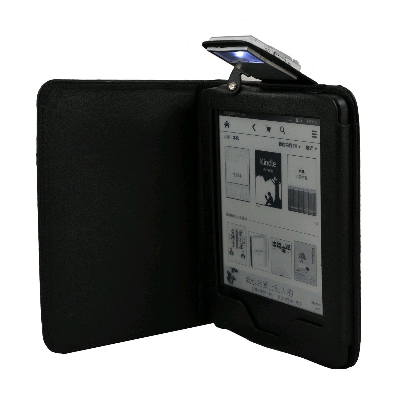 C-TECH PROTECT pouzdro pro Amazon Kindle 6 TOUCH s lampičkou, WAKE/SLEEP funkce, AKC-09, černé