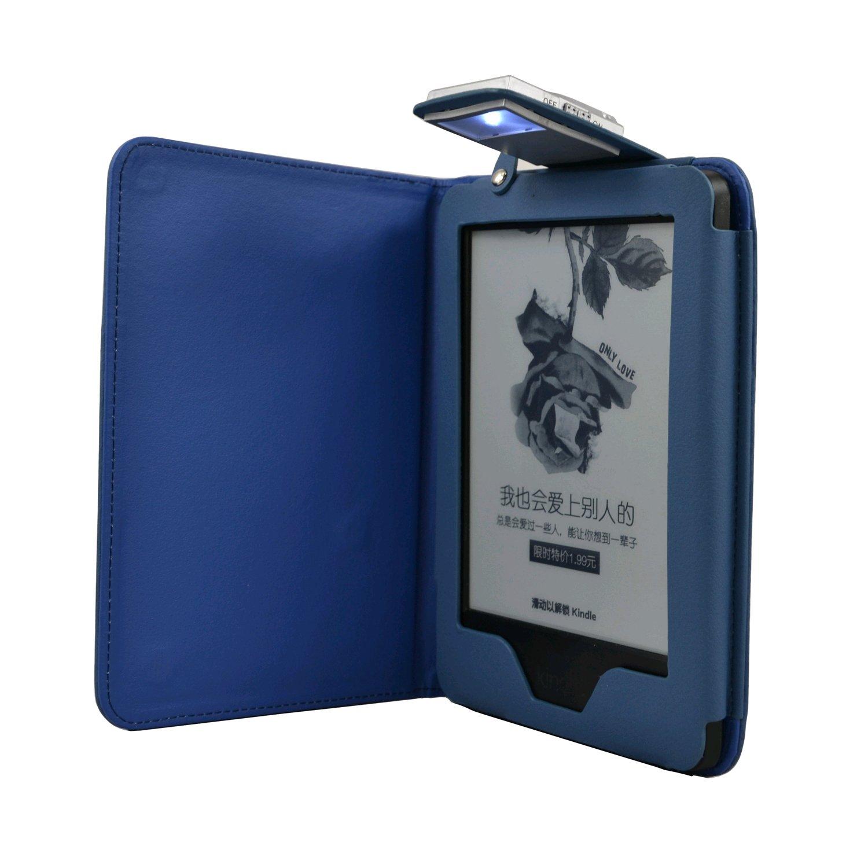 C-TECH PROTECT pouzdro pro Kindle 6 Touch s lampičkou, modré