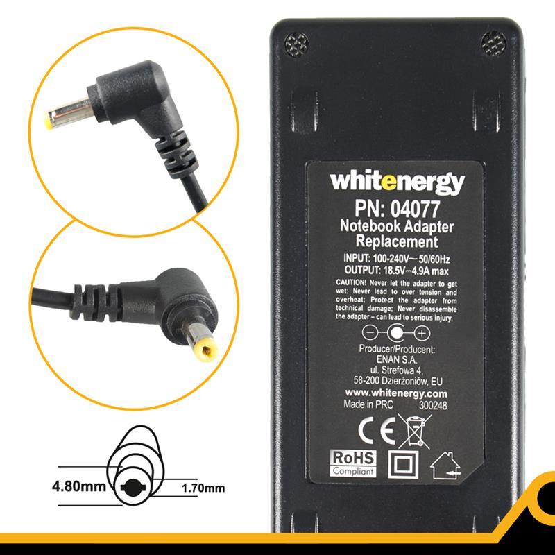 Whitenergy napájecí zdroj 18.5V/4.9A 90W konektor 4.8x1.7mm, Compaq